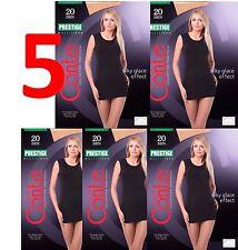 LOT of 5 Packs CONTE Elegant Women's High Class Tights PRESTIGE 20 Den S M L XL