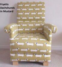 Fryetts Dachshunds Fabric Adult Chair Armchair Mustard Nursery Ochre Dogs Puppy
