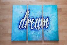 Dream Acrylbild Wandbild Kunst Gemälde Deko Wandschrift Bild Leinwand leuchtet