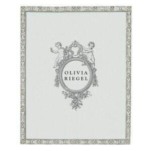 """OLIVIA RIEGEL SILVER REMY 8X10"""" PHOTO FRAME RT2757 .NEW IN BOX"""