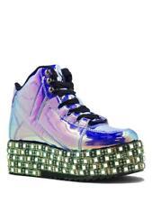 455f7f1c65c YRU Qozmo LED Atlantis Blue Holographic Hologram Light Up Platforms Sneakers