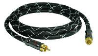 1m SunshineTronic Premium Subwooferkabel mono Audio Cinch Kabel 4-fach geschirmt