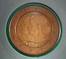 """Monaco 2011  2 Euro commémorative """"Mariage Princier""""   UNC"""
