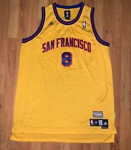 Rare Adidas NBA Hardwood Classics Golden State Warriors Monta Ellis Jersey Sz XL