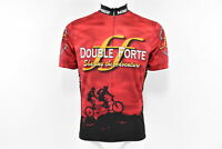 Verge Double Forte Men's Short Sleeve Cycling Jersey, Red, Large, New Old Stock