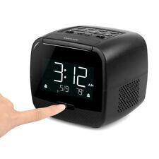 FM Radio Dual Alarm Clock Digital Temperature Display Bluetooth Speaker Snooze