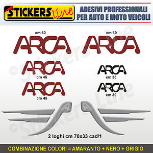 Kit completo 8 adesivi camper ARCA loghi M.1 stickers caravan roulotte decal