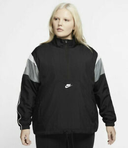 Nike Womens Jacket Heritage Plus Size 2x Black And Grey MSRP 70