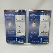 RCA Universal Surge Protector Smart Plate Series, 670 Joules Lot of 2