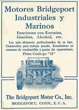 W3717 Motores Bridgeport Industriales y Marinos - Pubblicità 1913 - Advertising