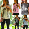 Women Casual Off One Shoulder Tops Summer Short Sleeve T Shirts Loose BlousesTop