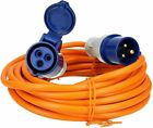 Quality Orange 20m Caravan Camping Electric Hook Up Extension Mains Cable 1.5mm