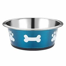 3x Classic Posh Paws Pet Products Dog Dish Small 900 Ml Blue Set of 3