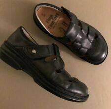 WIDE Women's Finn Comfort Black Leather  QUEBEC Shoes EUR SZ 37/  U.S. 7 $259