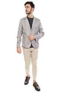 RRP €325 TRU TRUSSARDI Blazer Jacket Size 50 / L Logo Patch Notch Lapel Collar
