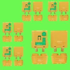► 10 Stk (5 Paar) XT90S ANTI BLITZ Hochstrom Gold Stecker Buchse Akku Nylon Lipo