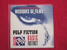 CD SINGLE PULP FICTION BASIC INSTINCT MUSIC MOVIE FILM