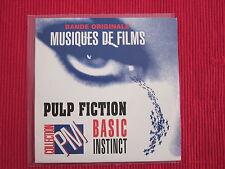 CD SINGLE PULP FICTION BASIC INSTINCT
