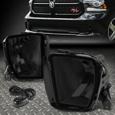 FOR 13-18 RAM 1500 SMOKE LENS BUMPER DRIVING FOG LIGHT REPLACEMENT LAMP W/SWITCH