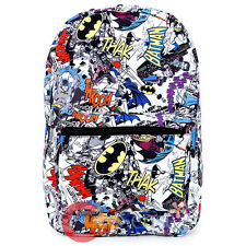 "DC Comics Large School Backpack 17"" All Over Prints Bag - Comic Book"