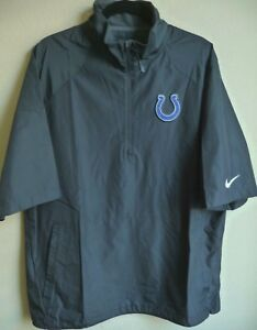 NFL Nike Indianapolis Colts Football 1/4-Zip Short Sleeve Pullover L NWT 538075