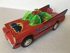Vintage Batman Batmobile Mystery Action Car Tin Battery Op Red