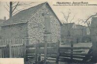 PHILADELPHIA PA - Johnson Place showing Germantown Battle Fence Bullet Holes-udb