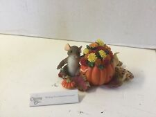 Fitz Floyd Charming Tails Wishing you A Beautiful Autumn 85/527 New Mouse Thanks