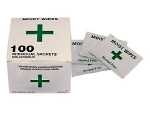 Alcohol Free Wipes - Antiseptic Sterile Wound, Cuts, Wounds, Tattoo, Medical