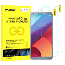PASBUY 2 Pack Premium Tempered Glass Film Screen Protector for LG G6