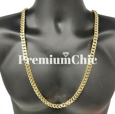 10MM Miami Cuban Link Chain 14k Gold Plated Stainless Steel Necklace Men Jewelry