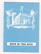 Theatre programme Suite in Two Keys B'ham Coward Marg.Lockwood Phyllis Calvert