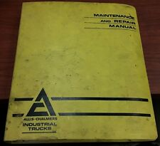 Allis-Chalmer Electrical Systems Maintenance & Repair Manual for form No. LT-627
