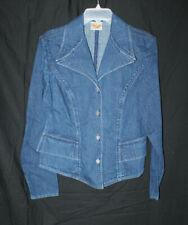 Women's Stubbs Western Cowgirl Equestrian Wear Size M Blue Denim Jacket