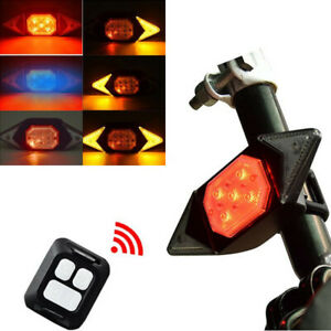 Bicycle Rechargeable Smart Turn Signal Rear LED Wireless Indicator Safety Light