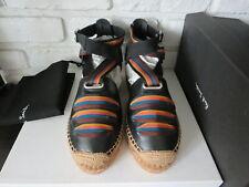 PAUL SMITH Women Shoes March Espadrilles Sandals Leather Black Size 37 6.5 - NIB