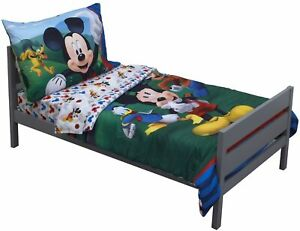 Mickey And The Roadster Racers Disney 4 Piece Toddler Bedding Set