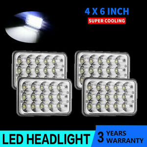 """4x LED Headlights 4x6"""" Square Work Lights For 60/80 Series H4656/H4651/4651/4652"""