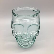 "San Miguel Skull Authentic 100% Recycled Glass Halloween Gothic Decor 5"" [MORE]"