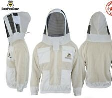 Unisex 3Layer Ventilated White Mesh Bee Jacket Astronaut Fencing Veil/Hood. XL