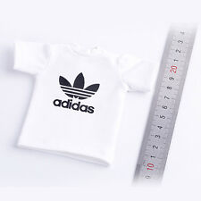 """1/6 Scale Clothes Short Sleeves Sports T-shirt For 12"""" Action Figure Body White"""
