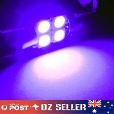 12V Purple Interior Festoon LED Dome Light 4SMD 5050 Globe 31mm Ultra Bright