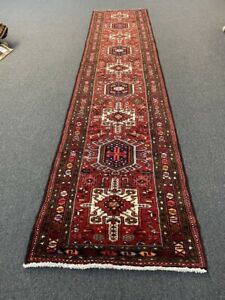 """On Sale Beautiful Vintage Hand Knotted Tribal Gharajeh Runner 2'8""""x12'8""""#766"""