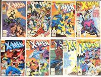 (9) XMEN comics Marvel  1980-1990 Lot