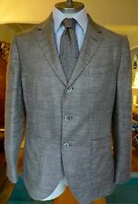 Hackett Silk/Linen Mix Prince of Wales Glen Checked Blazer Size 42S RRP £500
