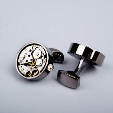Mechanical Cufflinks Watch French  Men's Shirt Cufflinks Wedding Business Gif