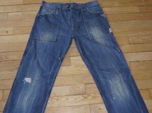 JAPAN RAGS Jeans Homme W 30 - L 32 Taille Fr 40 ARMY (Réf # W025)