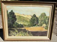 BEAUTIFUL SIGNED VINTAGE CALIFORNIA IMPRESSIONIST PASTEL PAINTING LANDSCAPE