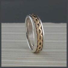 Knot Ring Keith Jack Size 7.5 Sterling Silver & 10K Narrow Classic Celtic