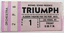 TRIUMPH Concert Ticket Stub - THUNDER SEVEN tour - Las Vegas NV - March 1 1985